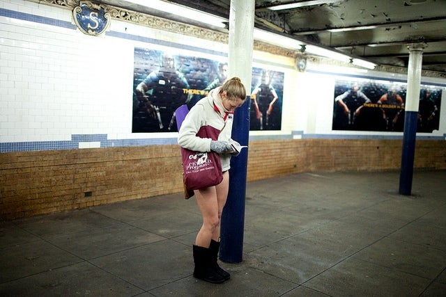 Watch 3,500 New Yorkers Ride The Subway Pantless