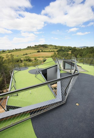 House With a Mini Golf Course On Its Roof