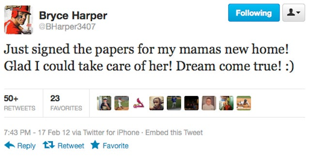Bryce Harper Bought His Mama A House