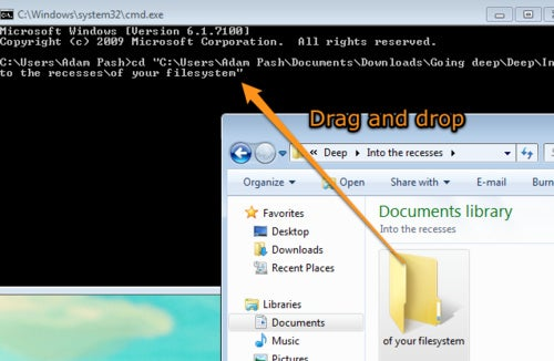 Quickly Copy File Paths to Your Command Prompt via Drag and Drop