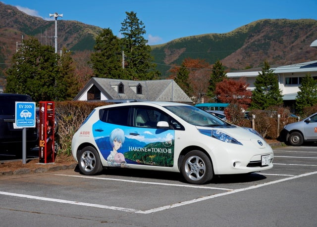 Yes, Anime Style Electric Car Charging Stations Exist in Japan