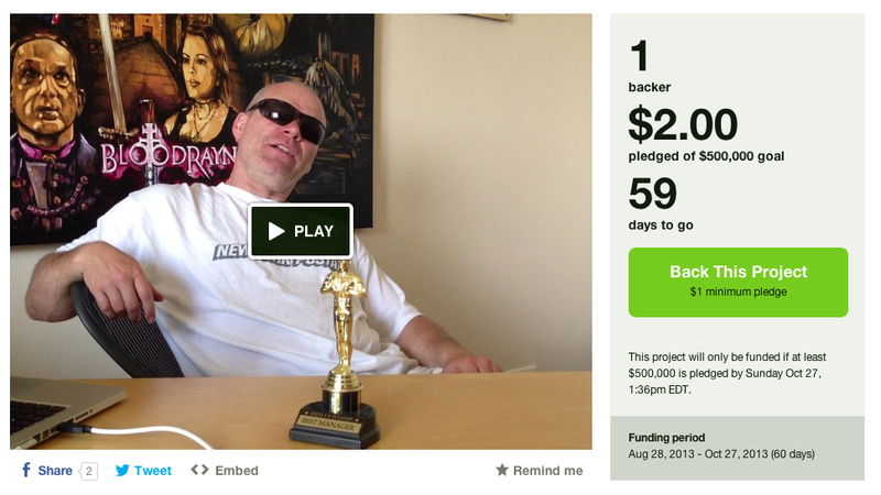 Oh God, Uwe Boll's on Kickstarter, Raising Money for Postal 2