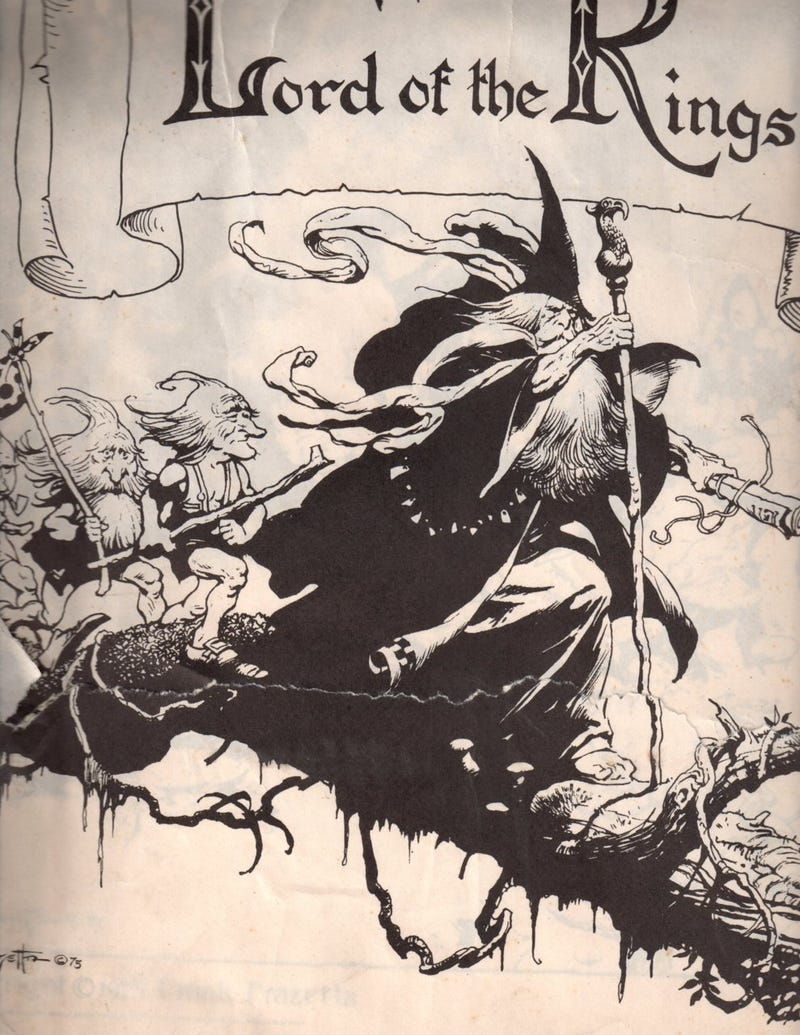Frank Frazetta's Lord of the Rings illustrations brought barbarian armor to Middle Earth
