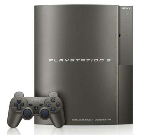 PS3 to Get Steel Color Makeover With Metal Gear Solid 4 Launch