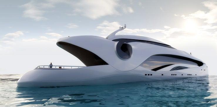 Oculus Yacht Mimics a Giant, Man-Eating Fish