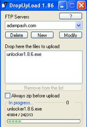 DropUpload Does Quick Drag-and-Drop FTP