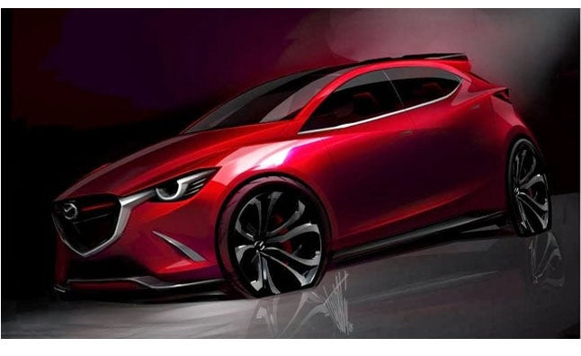 Mazda Hazumi Sketch Reveals A Pretty Sleek 2015 Mazda2