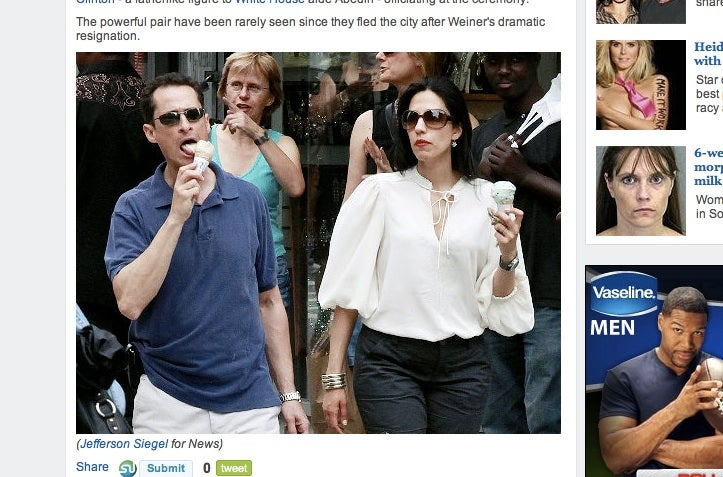 Weiner and 'Miserable-Looking' Huma Abedin Get Baskin Robbins