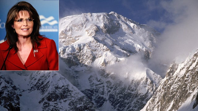 Sarah Palin Can't Spell the Name of Her Favorite Mountain