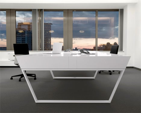 Stealth Figher Design Cues In The Kinzo Air Office Desk