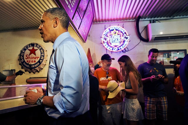 President Obama Cut in Line for Barbecue in Texas