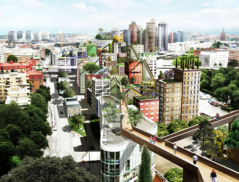 This Plan to Turn Stockholm Into a City Full of Sky Ways Looks Incredible