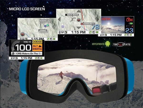 These Android-Powered Recon Alpine Goggles Make Snowboarding Like a Real Life Video Game