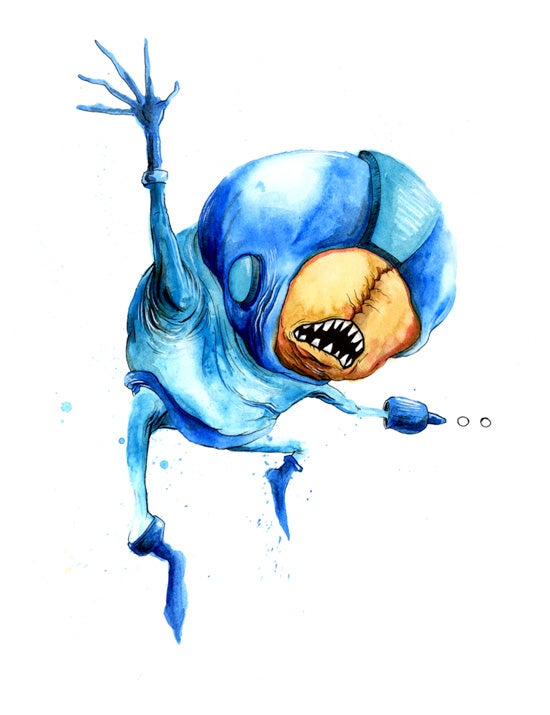Alex Pardee turns the world's greatest superheroes into freakish monsters