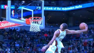 Giannis Antetokounmpo Obliterates Rim With Thunderous Windmill Jam