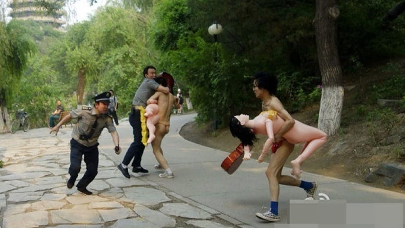 Protesting Piracy in China with...Blow-Up Dolls