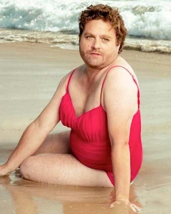 Zach Galifianakis Is Stunning In VF Swimsuit Pictorial