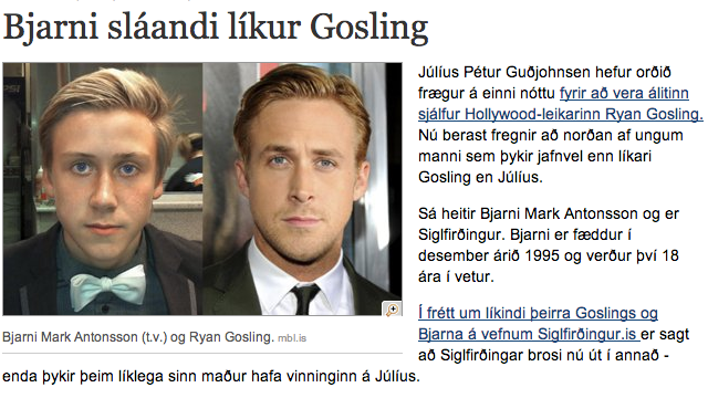 An Army of Ryan Gosling Look-alikes Rises In Iceland