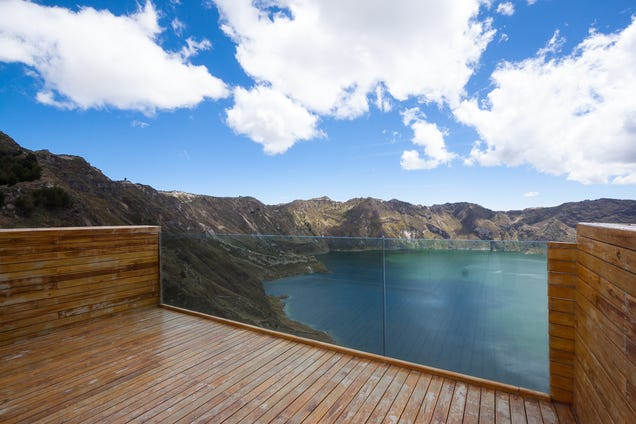 This High-Altitude Overlook Perfectly Frames a Volcano