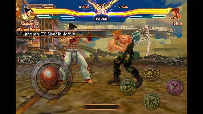 There's a Bizarre Bite-Sized Blitz Version of Street Fighter X Tekken for the iPhone