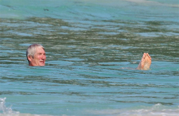 Richard Gere Goes Fishing For __________