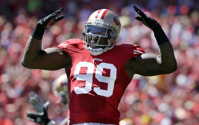 Report: Aldon Smith To Be Treated For Substance Abuse After Today's Game