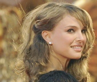 Natalie Portman Looks Over Her Shoulder for a Zombie Attack