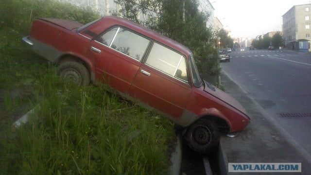 How did this Lada end up in a drainage ditch?