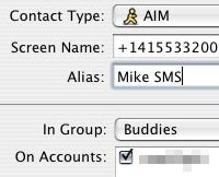 Send Free SMS Messages Using the AIM iPhone App