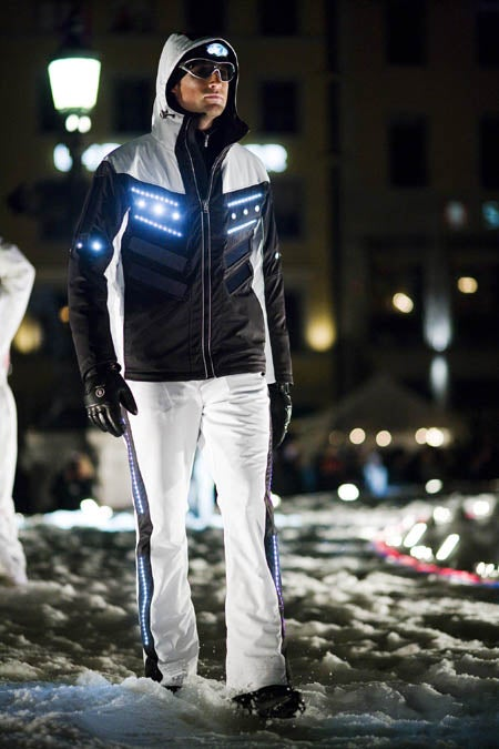 Solar-Powered Ski Suits Have LED Lighting in Them