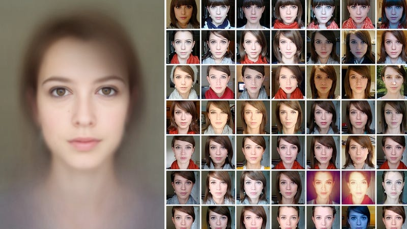 This Woman's Fake Face Is Made from 500 Faces
