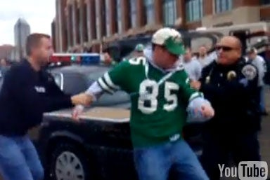 Angry Indy Cops vs. Drunk Jets Fan: The Video