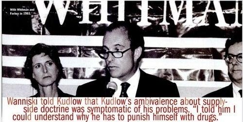 Larry Kudlow, Cokehead