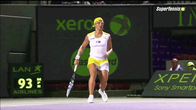 Agnieszka Radwanska Hit An Impossible No-Look, Behind-The-Back Winner In Miami Last Night