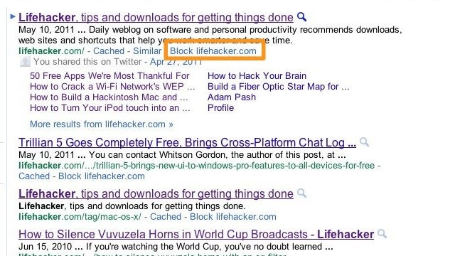 Personal Blocklist Filters Out Spam from Your Google Search Results