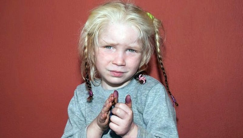Police Rescue Mystery Blonde Child From Gypsy Couple