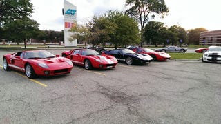 Small Ford GT Gathering I happened on yesterday.