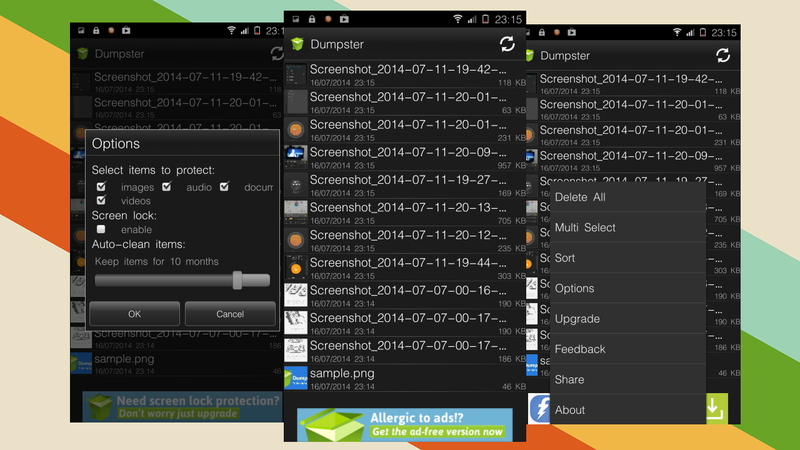 Dumpster Is a Recycle Bin for Android to Restore Deleted Files