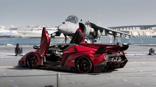 Lamborghini Veneno Roadster. Italian Aircraft Carrier. Abu Dhabi, UAE