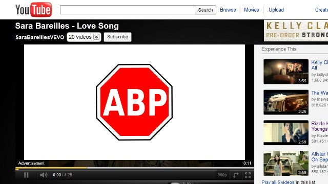 Adblock Plus for Chrome Now Blocks Video Ads, Too