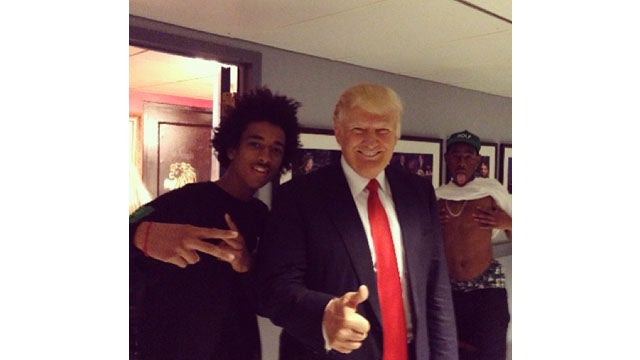 Donald Trump Gets Photobombed By Tyler, The Creator