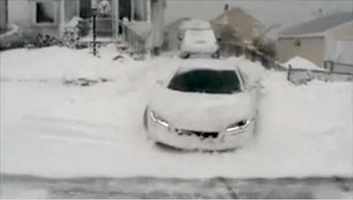 Audi R8 Pressed Into Service As World's Most Expensive Snow Plow