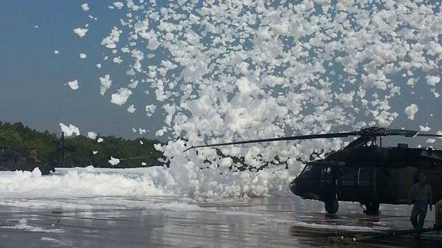 Oklahoma Military Base Hit With Dust Devil Full of Foam