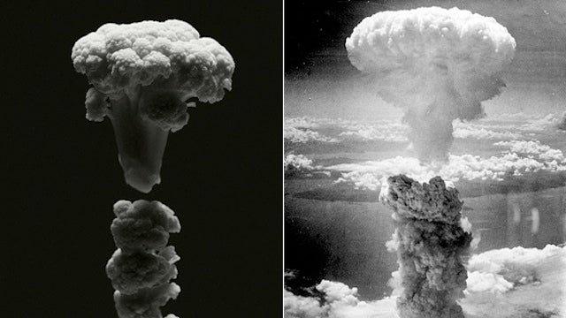 History's most famous explosions, reproduced in cauliflower