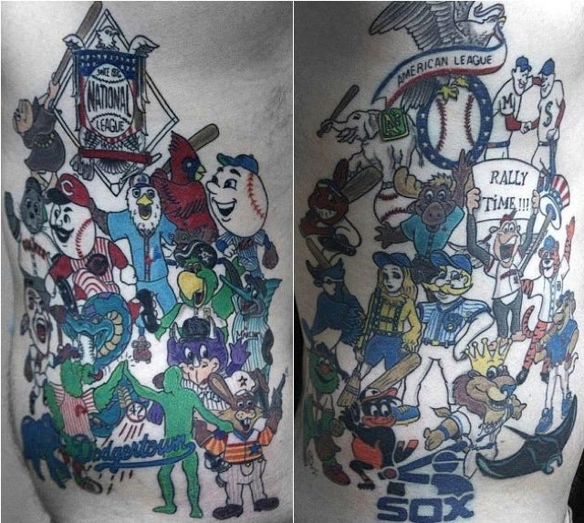This MLB Fan Cave Candidate Has Tattoos Of All 30 Mascots
