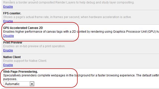 Turn on Hardware Acceleration in Google Chrome 10+