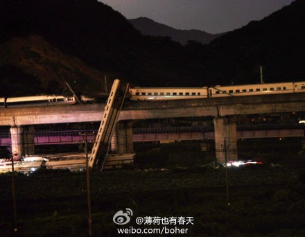 Two Bullet Trains Collide, One Falls From Bridge