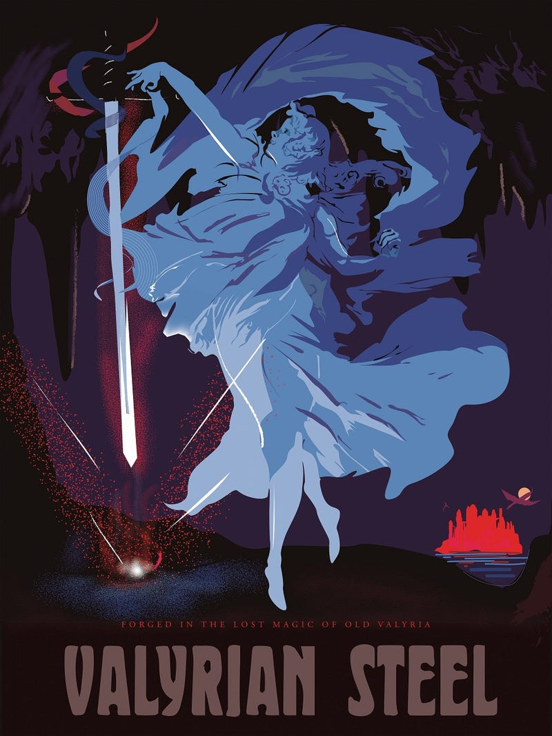 Cabaret-style Game of Thrones posters glamorize the magic of Westeros