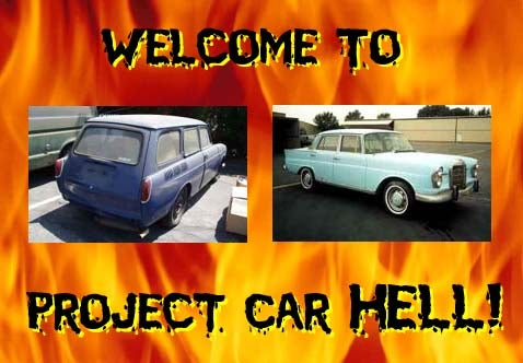 Project Car Hell: Finback Mercedes or VW Squareback?