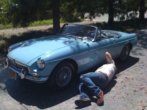 Two Jews Walk Into An MGB Owner's Driveway...